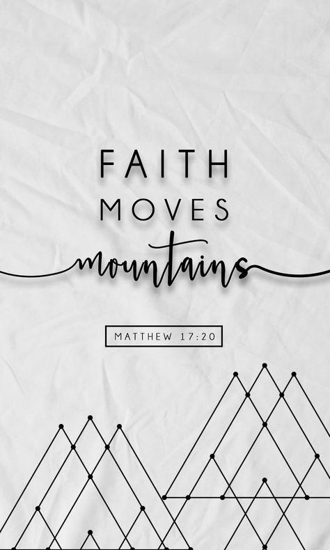 Faith Moves Mountains Matthew 1720 Image