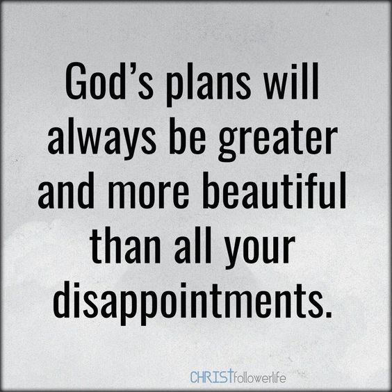 God's Greater And Beautiful Plan